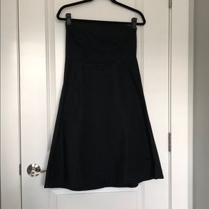 Strapless Black Cotton Dress-Gap, Size 12